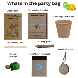 Save The Oceans Birthday Party Bag Premium - Whats in the party bag