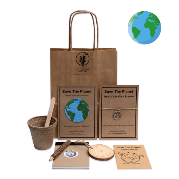 Save The Planet Eco-Friendly party bag for kids