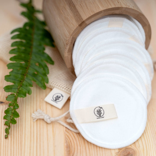 Reusable Bamboo Cotton pads - WHITE
