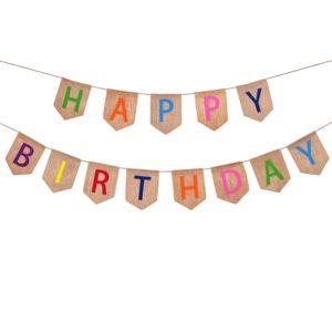 Happy Birthday Hessian Banner-min
