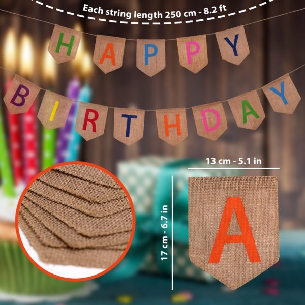 Happy Birthday Rustic Banner-min